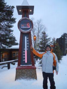 Finlandia Rovaniemi Casa Papa Noel Termometro