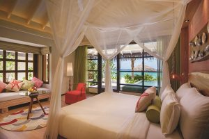 OBLU SELECT AT SANGELI DELUXE BEACH VILLA WITH POOL BEDROOM VIEW