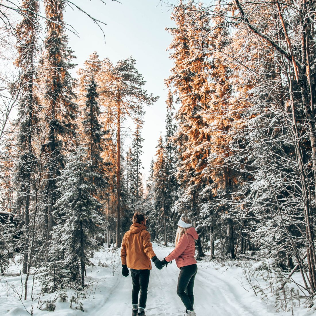 Romantic walk in Rovaniemi Lapland Finland Photo by TheTwoBohemians